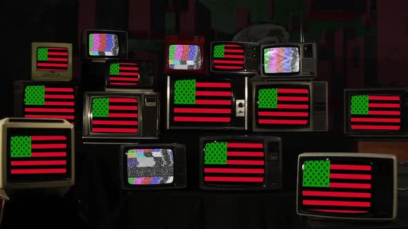 African American Flag and Retro TVs.