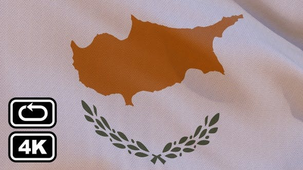 Thumbnail for Cyprus Flag 4K Seamless Loop