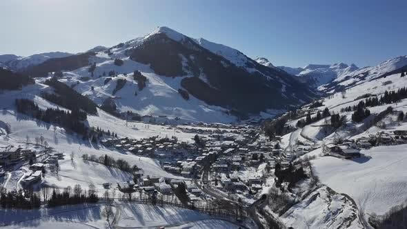Thumbnail for Saalbach-Hinterglemm Ski Resort Aerial View