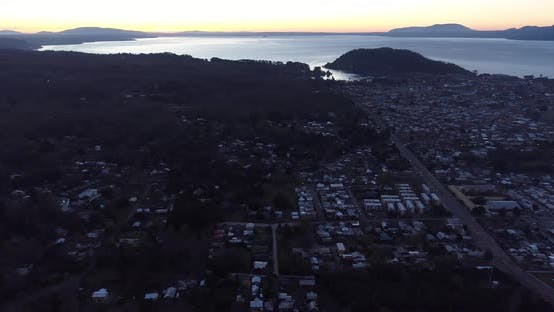 Thumbnail for Panning Aerial View Pucon Chile Landscape Lake Villarrica