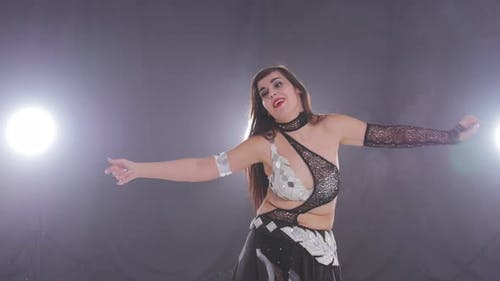 Young Beautiful Woman Dancing Belly Dance
