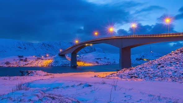 Thumbnail for Winter Evening Bridge in Lofoten