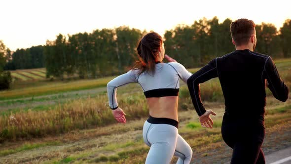 Thumbnail for Healthy Lifestyle Woman and Man Running