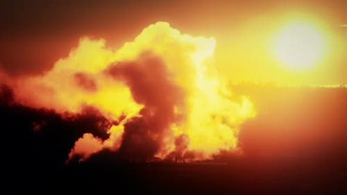 Dark Depiction of Industrial Pollution