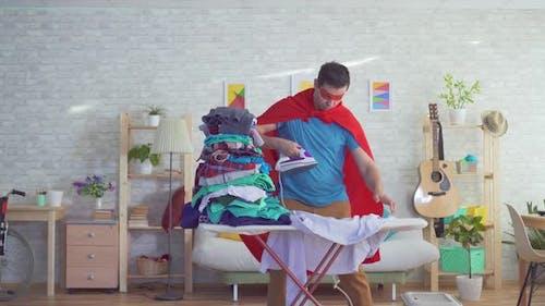 Man Householder Superhero Strokes Clothes