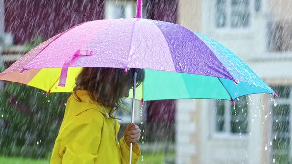Cover Image for Carefree Children in Rain