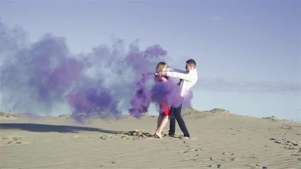 Thumbnail for Lovers with Colored Smoke