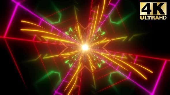 3 Spiral Neon Shape Vj Pack
