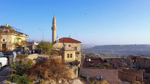 View of City in Cappadocia, Turkey.