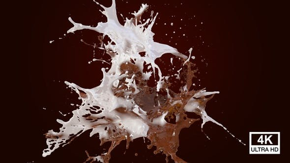 Thumbnail for Abstract Hot Chocolate With Milk Splash 4K