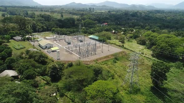 Thumbnail for Flyover Electrical Power Grid Substation
