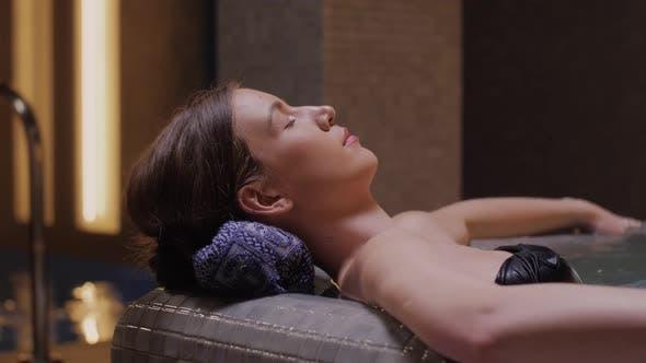 Woman Enjoying In Spa