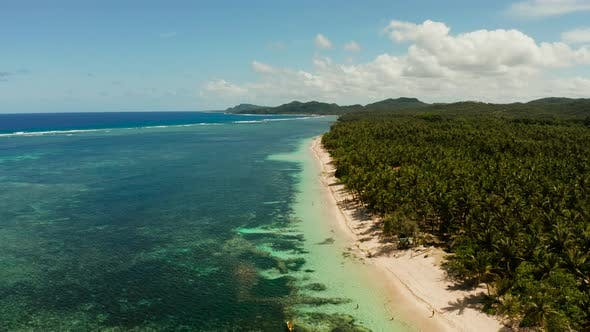 Thumbnail for Siargao Island and Ocean, Aerial View