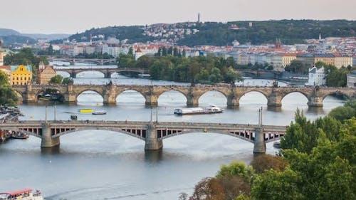 Summer Timelapse of Prague, Czech Republic