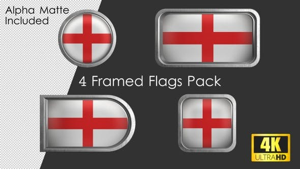 Thumbnail for Framed England Flag Pack