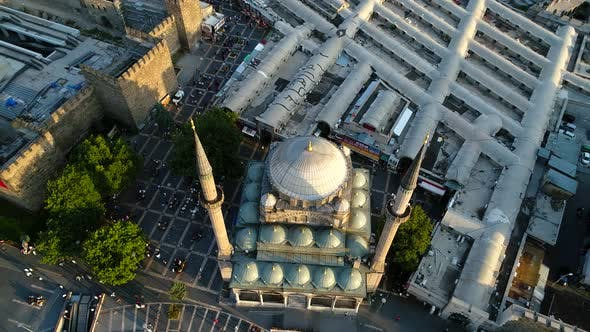Aerial View Of Mosque
