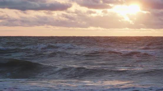 Thumbnail for Gorgeous Sunset Background. Baltic Sea. Zelenogradsk, Kaliningrad Region, Russia.
