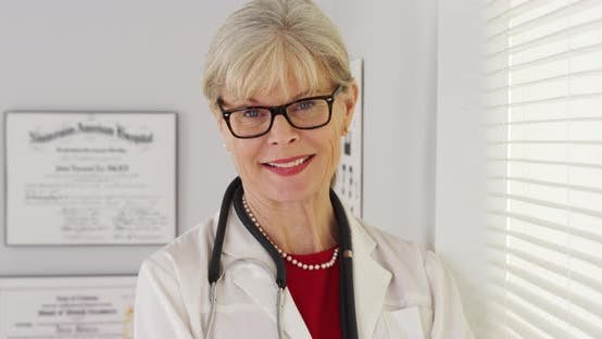 Thumbnail for Mature woman doctor smiling