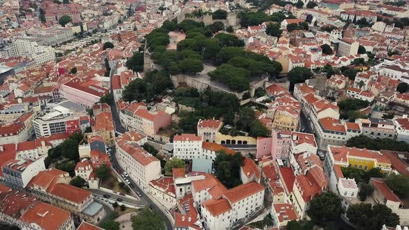 Thumbnail for Lisbon From a Bird's Eye View. Castle of St. George