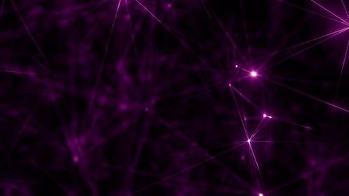 Hypnotic Purple Cybernetic Abstract Artificial Intelligence Meditation Plexus Array Loop