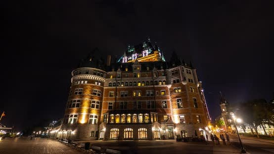 Thumbnail for Timelapse of the Chateau Frontenac, at night