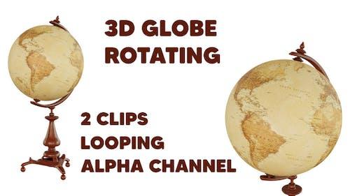 3D Globe Rotating