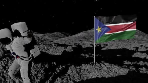 Thumbnail for Astronaut Planting South Sudan Flag on the Moon
