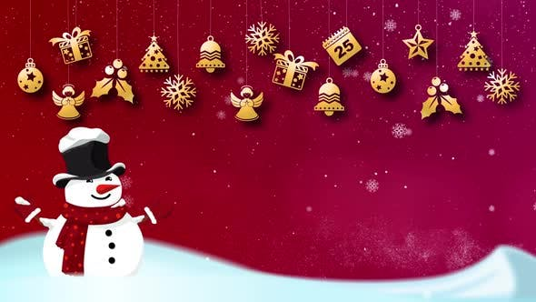Thumbnail for Merry Christmas and Happy New Year Background 01