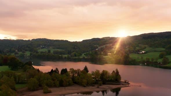 Thumbnail for Aerial Over a Lake at Dawn