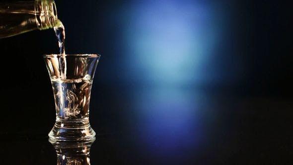 Thumbnail for Bottle Pours Vodka Into A Pile