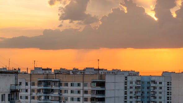 Thumbnail for Sky With Clouds During Sunset In City