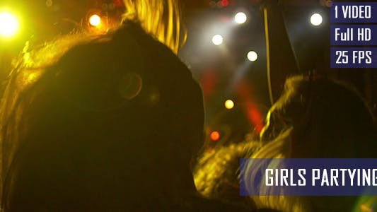 Partying Girls Silhouettes