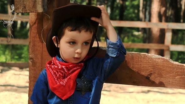 Thumbnail for Portrait Of A Little Cowboy