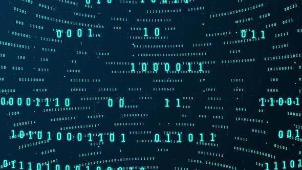 Thumbnail for Binary code data digital technology and big data on global