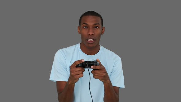 Thumbnail for Casual Young Man Playing Video Games 3