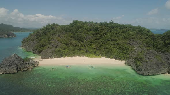 Seascape of Caramoan Islands, Camarines Sur, Philippines