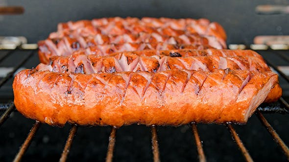 Thumbnail for Barbecue With Hot Grilled Sausages