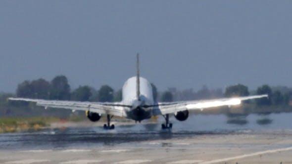 Thumbnail for Commercial Jet Plane Landing in Barcelona Airport