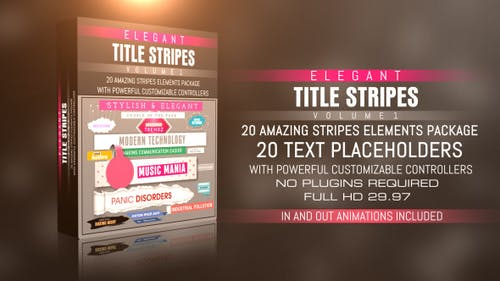 Elegant Title Stripes Vol-01