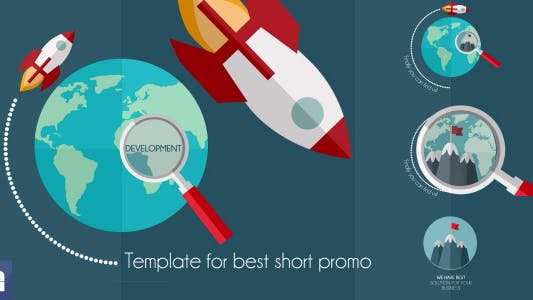 Thumbnail for Business Rocket - Short Flat Promotion
