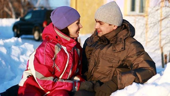 Thumbnail for Portrait of Happy Couple in Winter