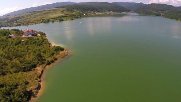 Thumbnail for Aerial View Of A Mountain Lake 3