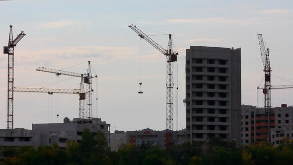 Cover Image for Construction Cranes Working