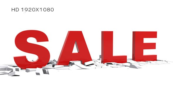 Thumbnail for 3D Text - Sale Animation