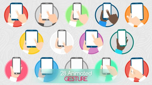 Thumbnail for Animated Gesture Icons