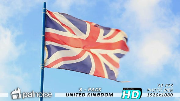 Thumbnail for UK Flag (3-Pack)