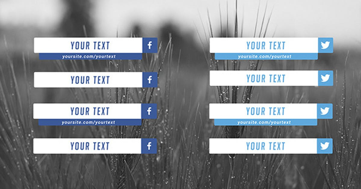 Download Flat Social Media Lower Thirds by soundeleon