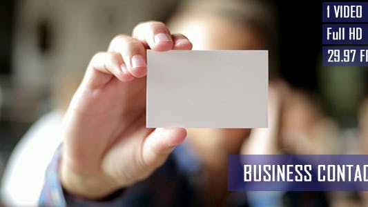 Thumbnail for Freelancer Showing Blank Business Card