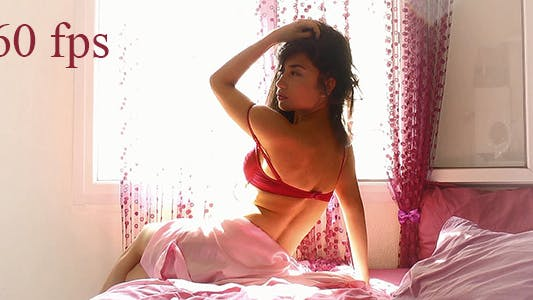 Thumbnail for Beautiful Model Posing in Bed 1