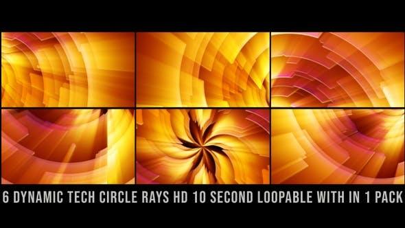 Thumbnail for Dynamic Tech Circle Rays Pack Orange V01